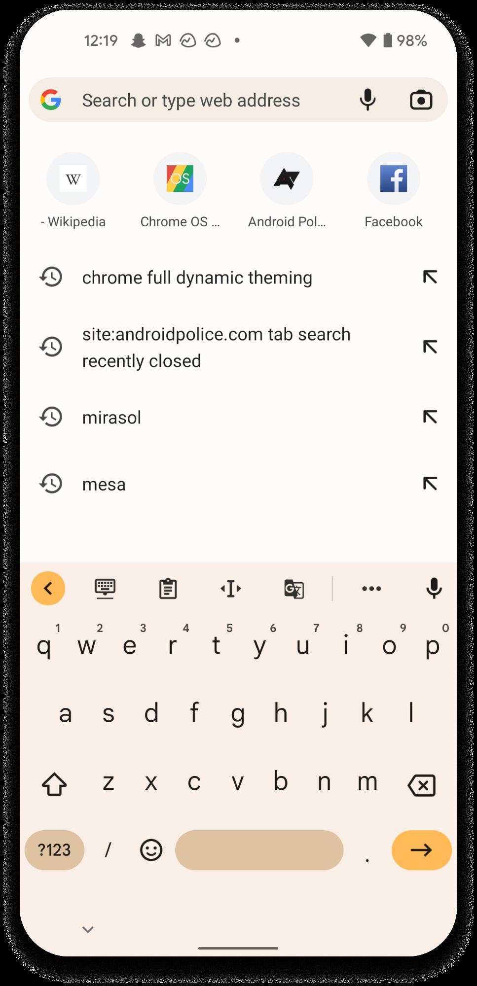 Google Chrome Material You
