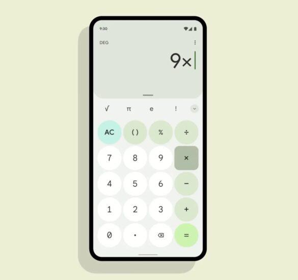 Android 12 Beta 5 Material You kalkulačka