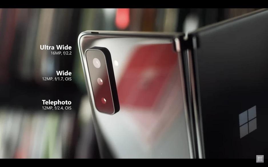 Microsoft Surface Duo 2 fotoaparáty