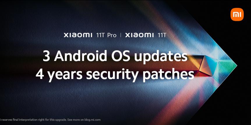 Xiaomi 11t dĺžka podpory