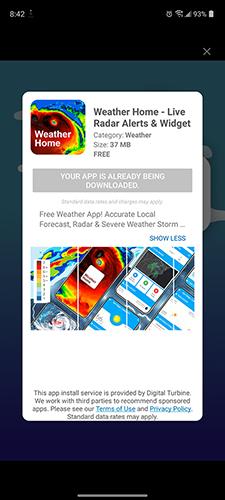 Reklama, ktorá automaticky nainštaluje aplikáciu