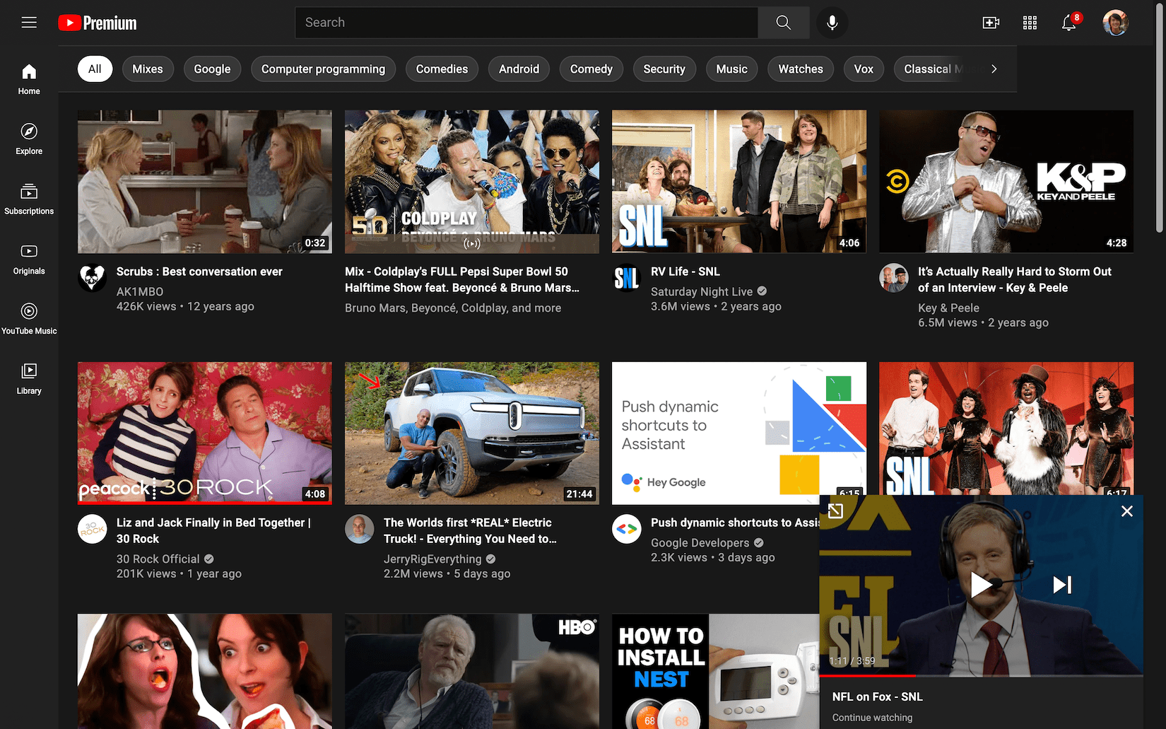 YouTube to continue watching on the web